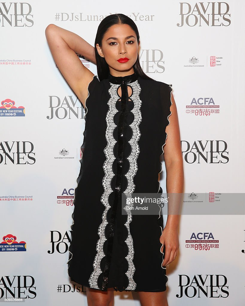 <a gi-track='captionPersonalityLinkClicked' href=/galleries/search?phrase=Jessica+Gomes&family=editorial&specificpeople=4319063 ng-click='$event.stopPropagation()'>Jessica Gomes</a> arrives ahead of the Lunar New Year Designer Collection Launch Party at David Jones Elizabeth Street Store on February 10, 2016 in Sydney, Australia.
