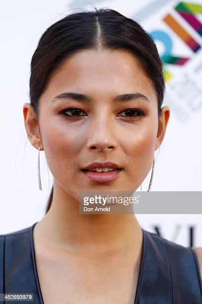 Jessica Gomes arrives at the 27th Annual ARIA Awards 2013 at the Star on December 1 2013 in Sydney Australia