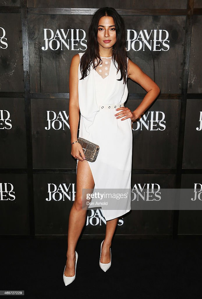 <a gi-track='captionPersonalityLinkClicked' href=/galleries/search?phrase=Jessica+Gomes&family=editorial&specificpeople=4319063 ng-click='$event.stopPropagation()'>Jessica Gomes</a> arrives at the David Jones A/W 2014 Collection Launch at the David Jones Elizabeth Street Store on January 29, 2014 in Sydney, Australia.