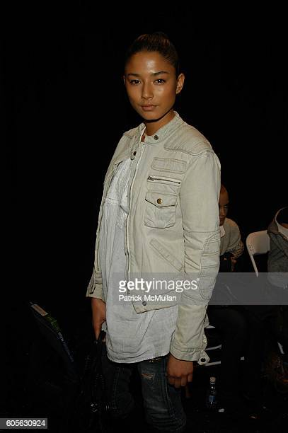 Jessica Gomes attends Oakley Womens Fall 06 Fashion Show at Atelier The Tents at Bryant Park on February 4 2006 in New York