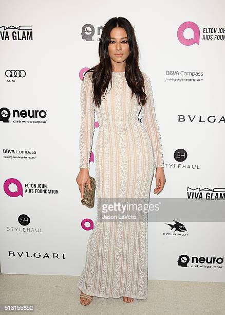 Jessica Gomes attends the 24th annual Elton John AIDS Foundation's Oscar viewing party on February 28 2016 in West Hollywood California