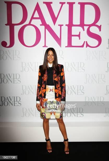 Jessica Gomes attends the David Jones S/S 2012/13 Season Launch at David Jones Castlereagh Street on August 14 2012 in Sydney Australia