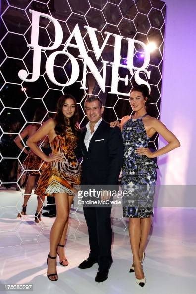Jessica Gomes CEO David Jones Paul Zahra and Megan Gale pose after the David Jones Spring/Summer 2013 Collection Launch at David Jones Elizabeth...