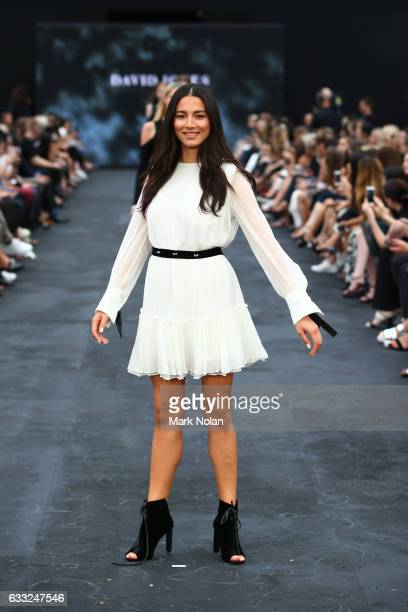 Jessica Gomes designs by Manning Cartell during rehearsal ahead of the David Jones Autumn/Winter 2016 Fashion Launch at St Mary's Cathedral on...