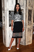 Jessica Gomes poses as Rahul Mishra Launches His Woolmark Collection at David Jones Elizabeth Street Store on October 14 2014 in Sydney Australia