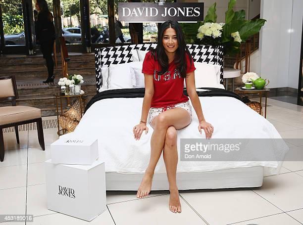 Jessica Gomes poses at David Jones Elizabeth Street Store on August 5 2014 in Sydney Australia