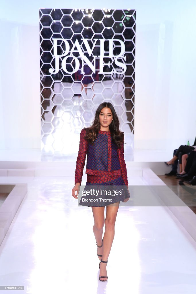 Jessica Gomes showcases designs by Camilla and Marc at the David Jones Spring/Summer 2013 Collection Launch at David Jones Elizabeth Street on July 31, 2013 in Sydney, Australia.