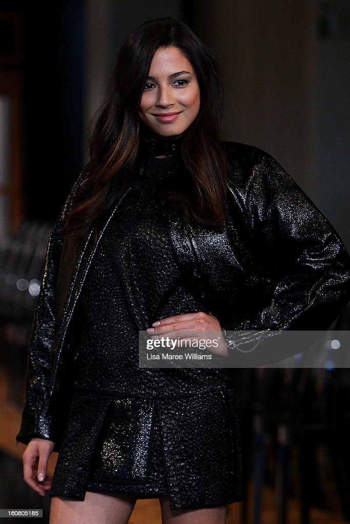 Jessica Gomes showcases designs by Ellery during rehearsal ahead of the David Jones A/W 2013 Season Launch at David Jones Castlereagh Street on February 6, 2013 in Sydney, Australia.