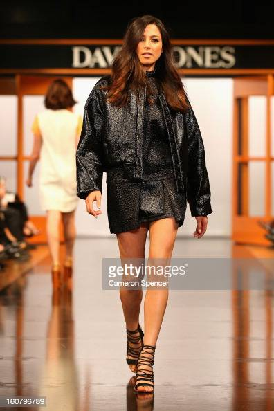 Jessica Gomes showcases designs by Ellery on the runway during the David Jones A/W 2013 Season Launch at David Jones Castlereagh Street on February 6...