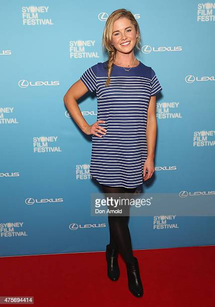 Jessica Grace Smith arrives at the Sydney Film Festival Opening Night Gala at the State Theatre on June 3 2015 in Sydney Australia