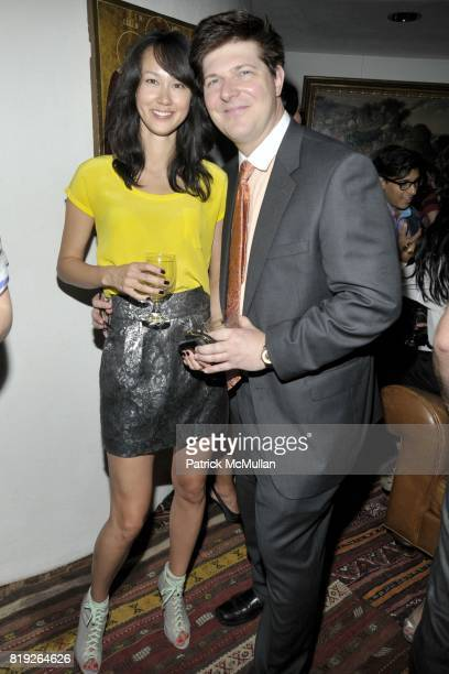 Jessica Grimm and Mark Smith attend Eric Lerner Frank Cascio Celebrate their birthdays with Host Sean Parker and CoHosts Denise Rich Romero Britto...
