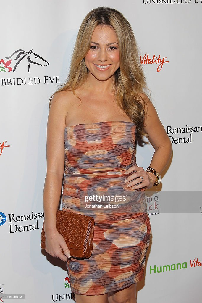 Jessica Hall attends the 5th Annual Unbridled Eve Derby Prelude Party at The London West Hollywood on January 9 2014 in West Hollywood California