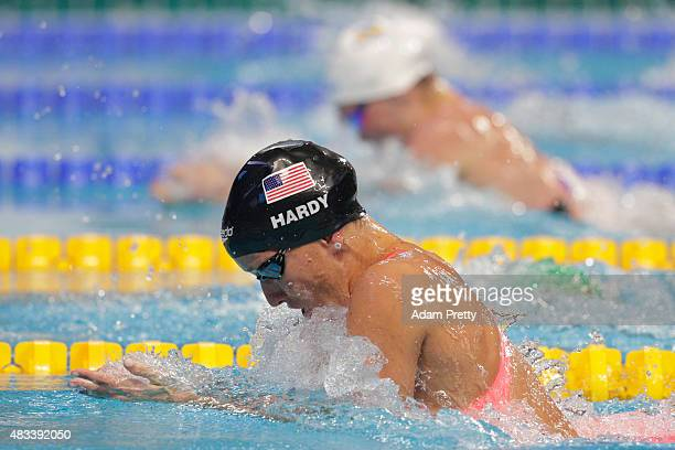 Jessica Hardy of the United States competes in the Women's 50m Breaststroke SemiFinals on day fifteen of the 16th FINA World Championships at the...