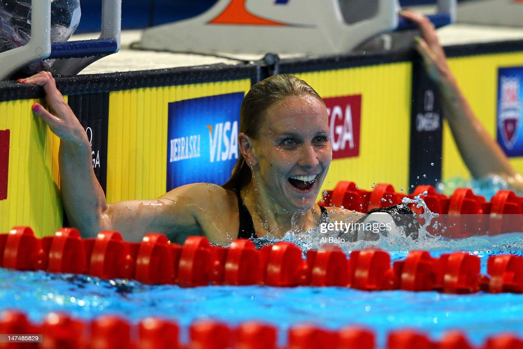 <a gi-track='captionPersonalityLinkClicked' href=/galleries/search?phrase=Jessica+Hardy&family=editorial&specificpeople=540355 ng-click='$event.stopPropagation()'>Jessica Hardy</a> reacts after she competed in the championship final of the Women's 100 m Freestyleduring Day Six of the 2012 U.S. Olympic Swimming Team Trials at CenturyLink Center on June 30, 2012 in Omaha, Nebraska.
