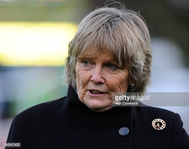 Jessica Harrington at Sandown racecourse on December 02 2011 in Esher England