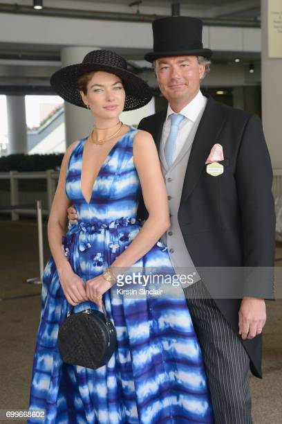 Jessica Hart and Laurent Feniou attend day 3 of Royal Ascot at Ascot Racecourse on June 22 2017 in Ascot England