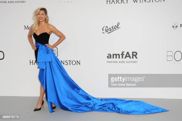 Jessica Hart arrives at the amfAR Gala Cannes 2017 at Hotel du CapEdenRoc on May 25 2017 in Cap d'Antibes France