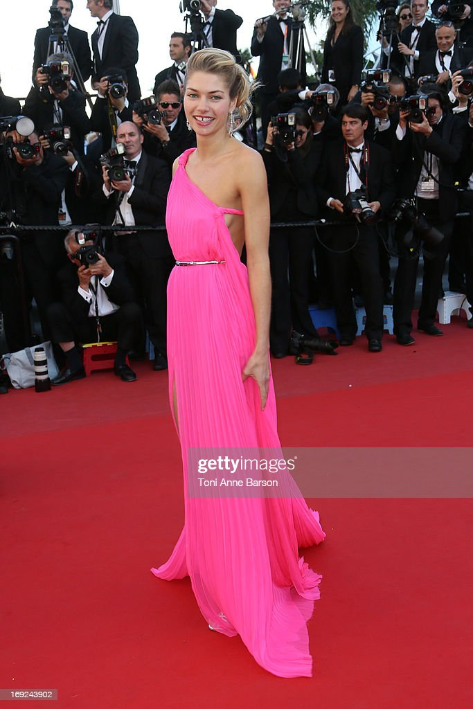 Jessica Hart attends 'Behind The Candelabra' Premiere during The 66th Annual Cannes Film Festival on May 21, 2013 in Cannes, France.