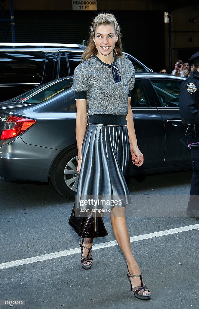 Jessica Hart attends Calvin Klein Collection during Fall 2013 Mercedes-Benz Fashion Week on February 14, 2013 in New York City.