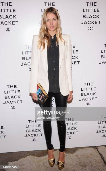 Jessica Hart attends Chanel'sThe Little Black Jacket Event at Swiss Institute on June 6 2012 in New York City