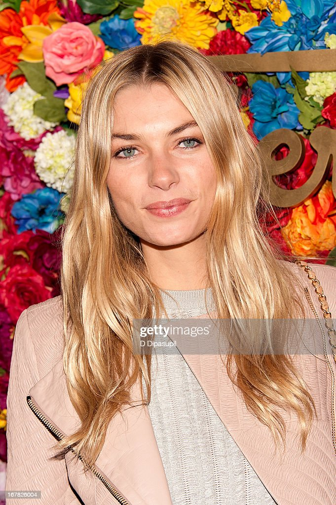Jessica Hart attends Ferragamo Celebrates The Launch Of L'Icona Highlighting The 35th Anniversary Of Vara at 530 West 27th Street on April 30, 2013 in New York City.