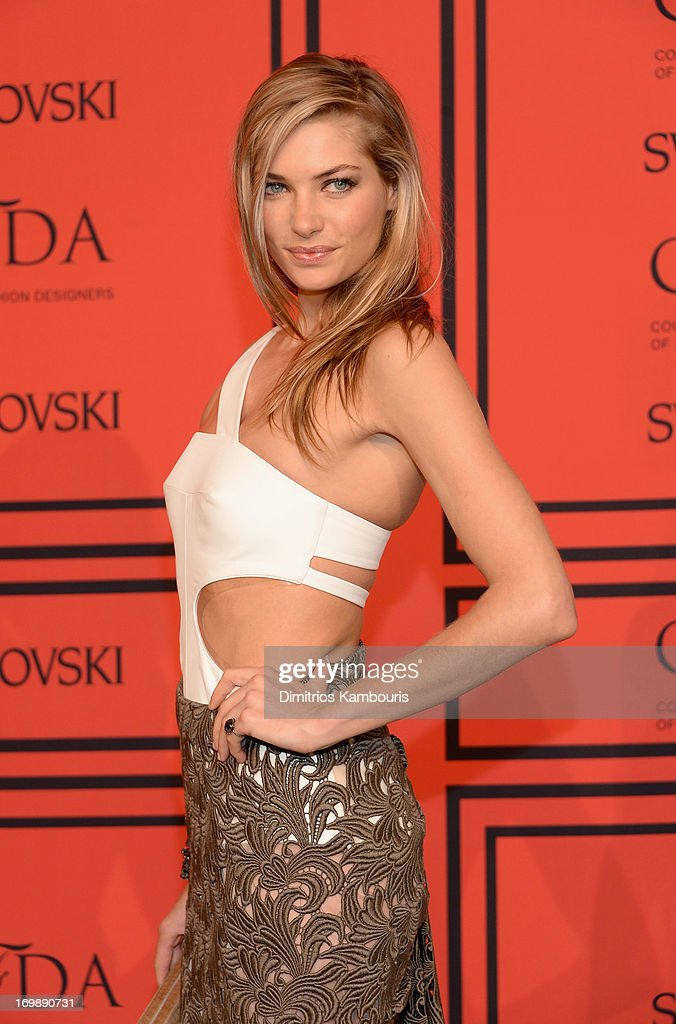<a gi-track='captionPersonalityLinkClicked' href=/galleries/search?phrase=Jessica+Hart&family=editorial&specificpeople=4436555 ng-click='$event.stopPropagation()'>Jessica Hart</a> attends the 2013 CFDA Fashion Awards on June 3, 2013 in New York, United States.