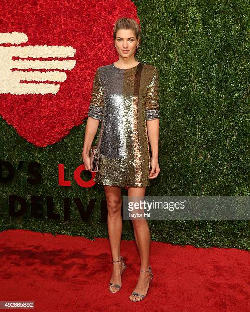 Jessica Hart attends the 2015 God's Love WE Deliver Golden Heart Awards at Spring Studios on October 15 2015 in New York City