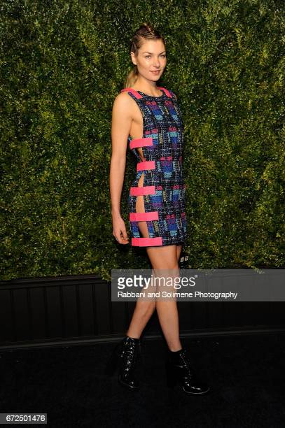 Jessica Hart attends the 2017 Tribeca Film Festival Chanel Artists Dinner on April 24 2017 in New York City
