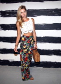 Jessica Hart attends the Alice Olivia By Stacey Bendet show during Spring 2013 MercedesBenz Fashion Week at Century 548 on September 10 2012 in New...