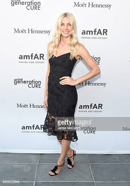 Jessica Hart attends the amfAR generationCure Solstice 2016 on June 21 2016 in New York City
