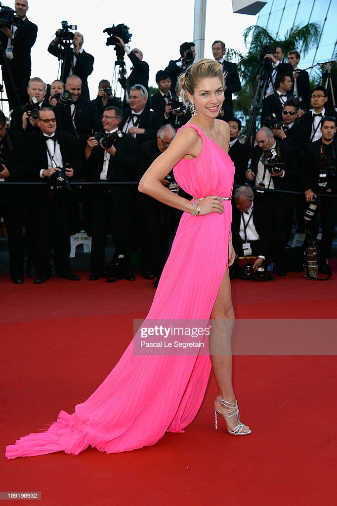 Jessica Hart attends the 'Behind The Candelabra' premiere during The 66th Annual Cannes Film Festival at Theatre Lumiere on May 21, 2013 in Cannes, France.