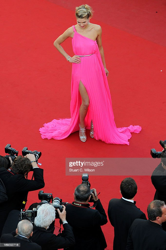 Jessica Hart attends the 'Behind The Candelabra' premiere during The 66th Annual Cannes Film Festival at The 60th Anniversary Theatre on May 21, 2013 in Cannes, France.