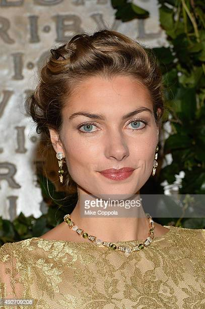 Jessica Hart attends the BVLGARI ROME Eternal Inspiration Opening Night on October 14 2015 in New York City