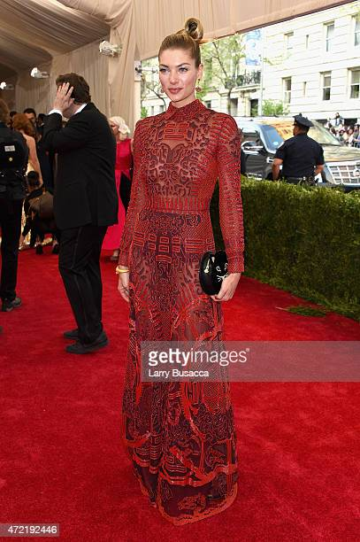 Jessica Hart attends the 'China Through The Looking Glass' Costume Institute Benefit Gala at the Metropolitan Museum of Art on May 4 2015 in New York...