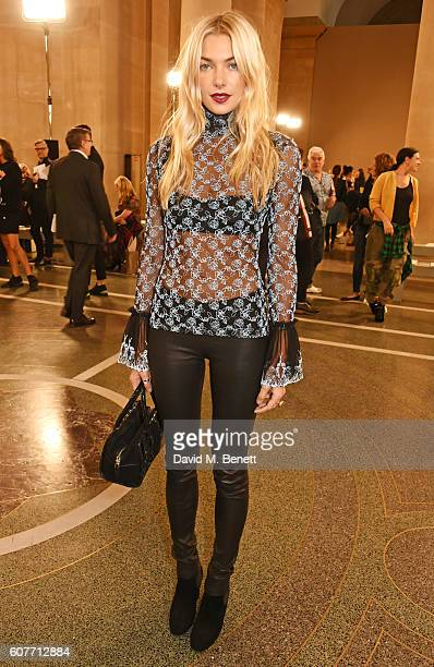 Jessica Hart attends the Christopher Kane show during London Fashion Week Spring/Summer collections 2017 on September 19 2016 in London United Kingdom