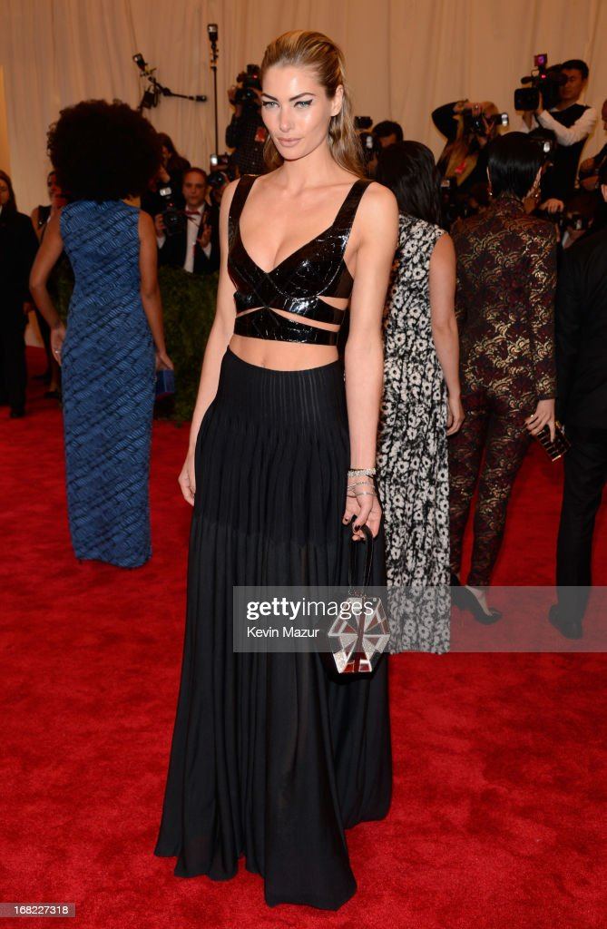 Jessica Hart attends the Costume Institute Gala for the 'PUNK: Chaos to Couture' exhibition at the Metropolitan Museum of Art on May 6, 2013 in New York City.
