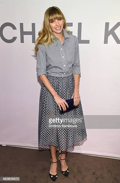 Jessica Hart attends the Michael Kors Miranda Eyewear Collection Event on February 18 2015 in New York City