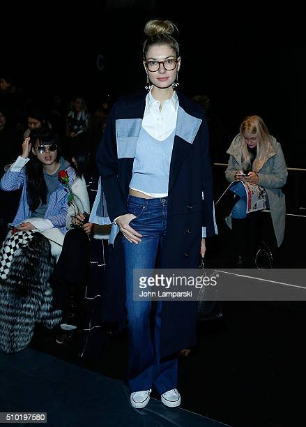 Jessica Hart attends Tome collection during Fall 2016 New York Fashion Week The Shows on February 14 2016 in New York City