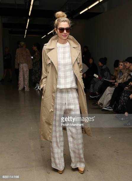 Jessica Hart attends Zimmermann during New York Fashion Week on February 13 2017 in New York City