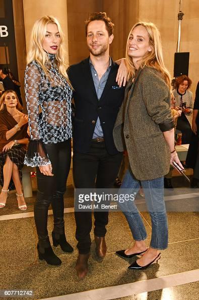 Jessica Hart Derek Blasberg and Lauren Santo Domingo attend the Christopher Kane show during London Fashion Week Spring/Summer collections 2017 on...