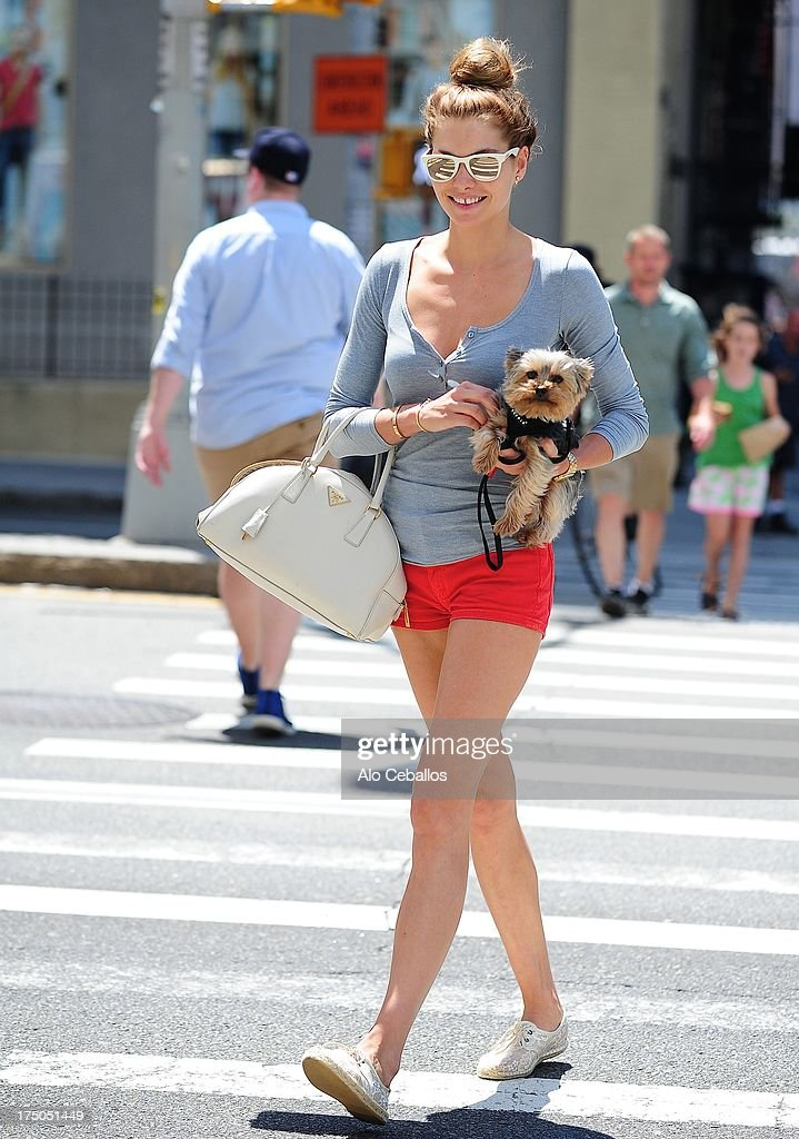 Jessica Hart is seen in Soho on July 30, 2013 in New York City.