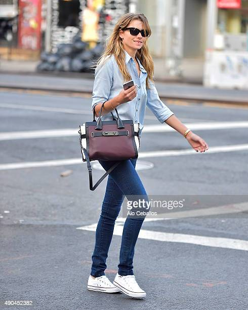 Jessica Hart is seen in the East Village on September 28 2015 in New York City