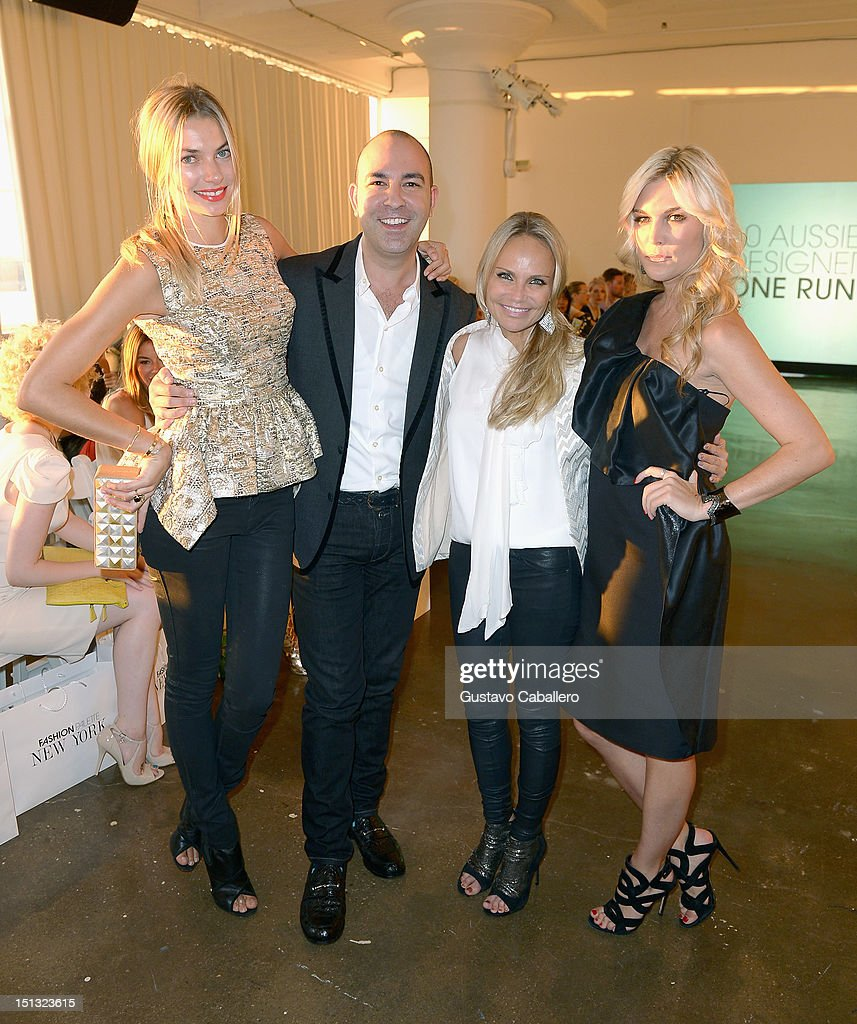 Jessica Hart,Bruno Schiavi,Kristin Chenoweth and Tinsley Mortimer attends NYFW S/S 2013: 'PIJU' Collection Launch at New York Fashion Palette at Dream Downtown on September 5, 2012 in New York City.