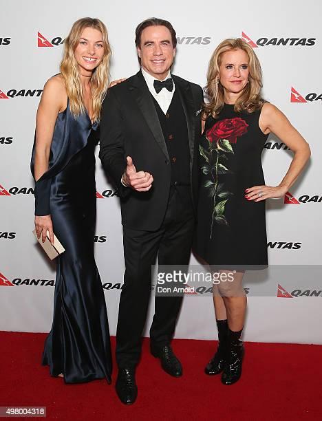 Jessica HartJohn Travolta and Kelly Preston arrive at the QANTAS 95th Birthday Gala Celebration at Hangar 96 in the Qantas Jetbase on November 20...