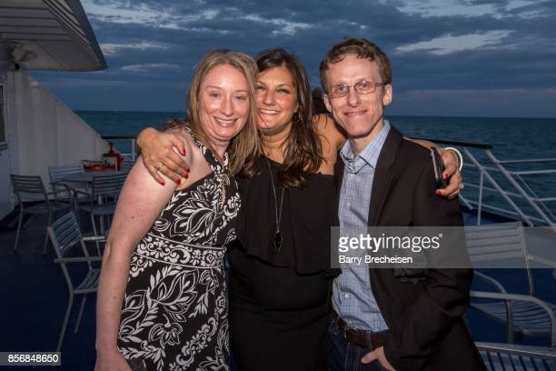 Jessica Hebda Lawson Jennifer Karum and Ryan Atkins the 'Conrad' series party on the Spirit of Chicago boat event showcasing the new crime drama that...