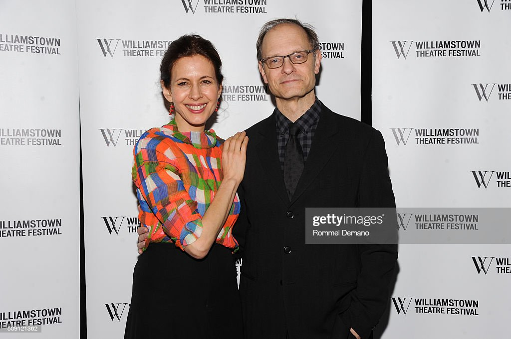 Jessica Hecht and David Hyde Pierce attend 2016 Williamstown Theatre Festival Benefit at City Winery on February 8 2016 in New York City