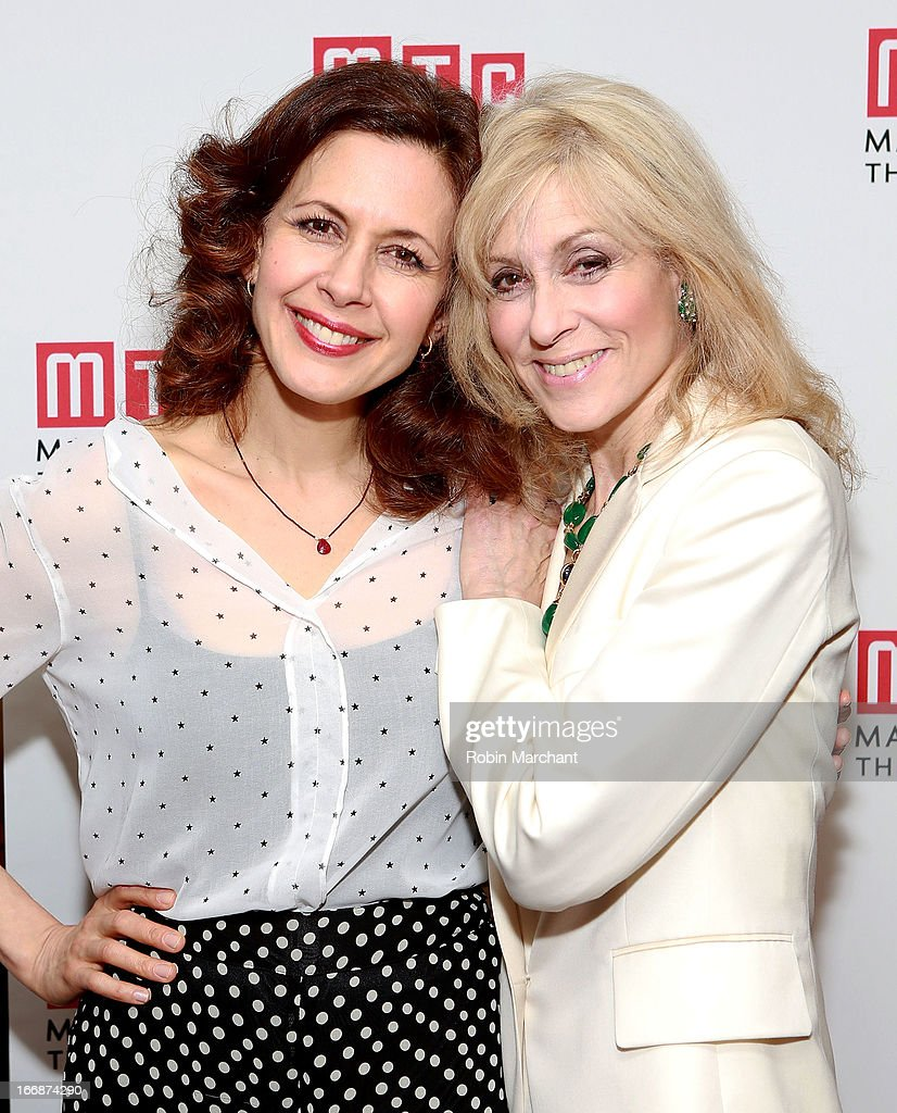 Jessica Hecht (L) and Judith Light attend the after party for 'The Assembled Parties' opening night at Copacabana on April 17, 2013 in New York City.