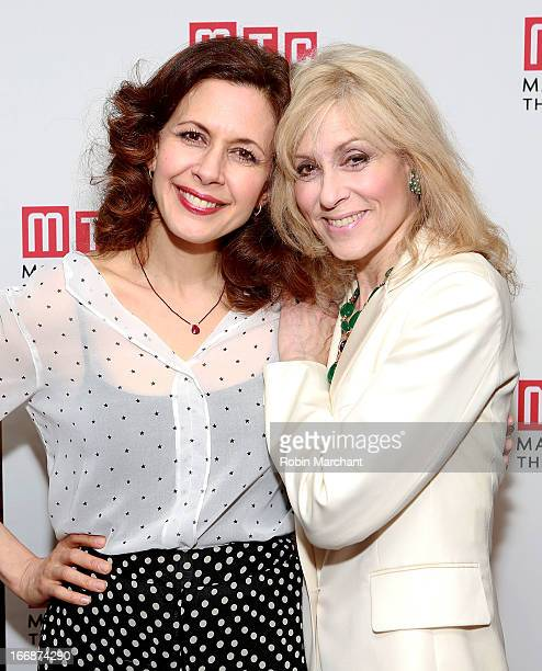 Jessica Hecht and Judith Light attend the after party for 'The Assembled Parties' opening night at Copacabana on April 17 2013 in New York City