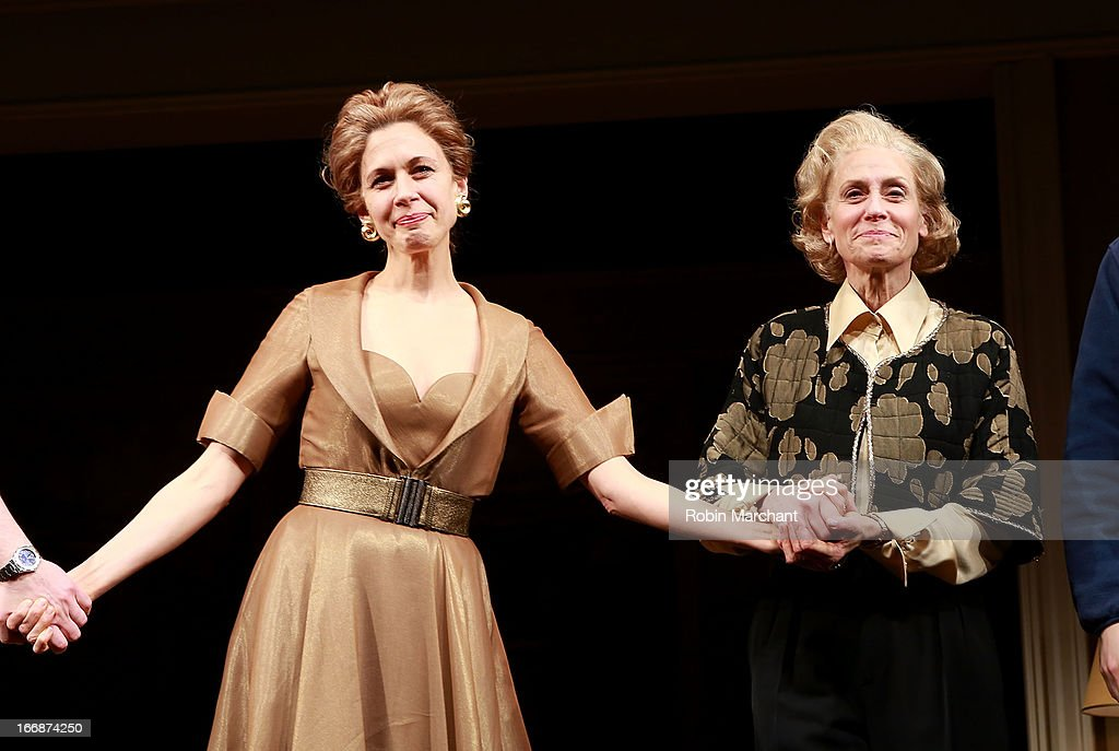 Jessica Hecht (L) and Judith Light attend the 'The Assembled Parties' opening night at Samuel J. Friedman Theatre on April 17, 2013 in New York City.