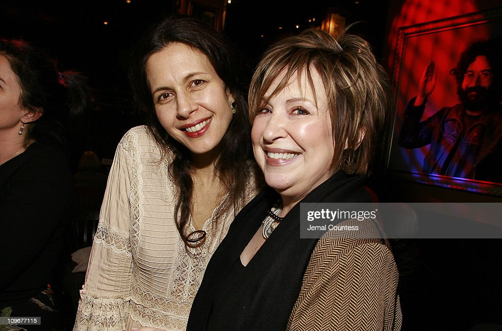 Jessica Hecht and Kathleen Conlin during 'Howard Katz' Opening Night in New York City After Party in New York City New York United States